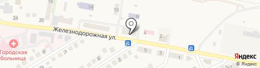 Гостиница в Оби на карте Оби