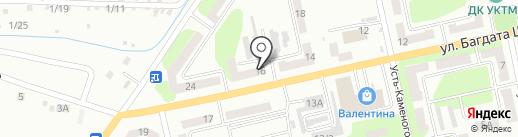 Орел на карте Усть-Каменогорска