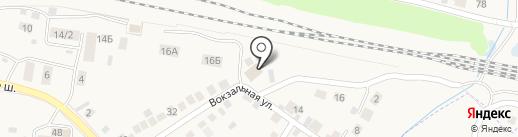 Кладбище г. Обь на карте Оби