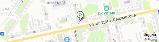 Санта-Барбара на карте Усть-Каменогорска
