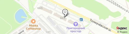 Шкатулка на карте Новосибирска