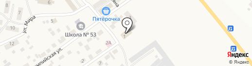 Приобское на карте Приобского