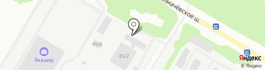 Ёлка на карте Новосибирска