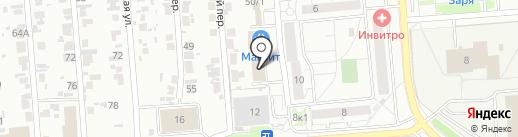 Сластена на карте Новосибирска