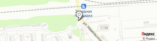 Киоск по продаже печатной продукции на карте Новосибирска