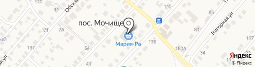 Обской на карте Мочища