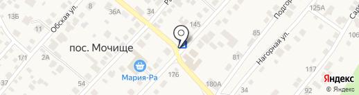 Киоск по продаже фруктов и овощей на карте Мочища