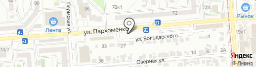 Карамель на карте Новосибирска