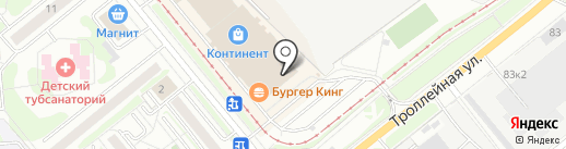 Резиновая подкова на карте Новосибирска