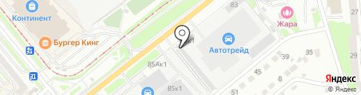 Автосервис на карте Новосибирска