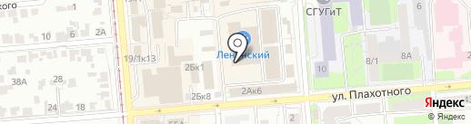Дружеская трапеза на карте Новосибирска