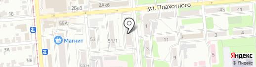 Прялка & Веретено на карте Новосибирска