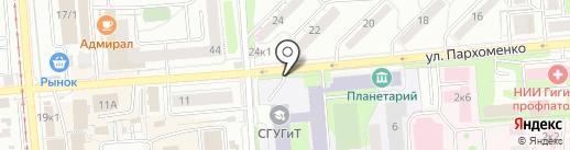 Автостоянка на карте Новосибирска
