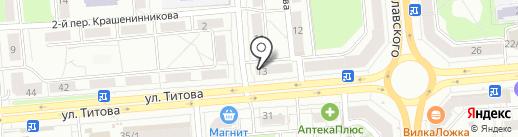 Зелёный луг на карте Новосибирска