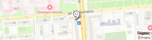 Зефир на карте Новосибирска
