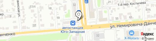 Вино-водочный магазин на карте Новосибирска