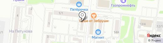 Акатуйский на карте Новосибирска