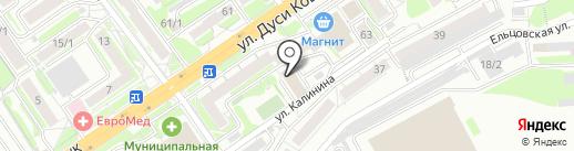 Артишок на карте Новосибирска