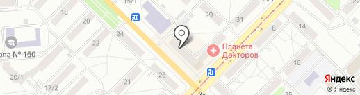 Хлебница на карте Новосибирска