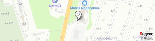 QTP на карте Новосибирска