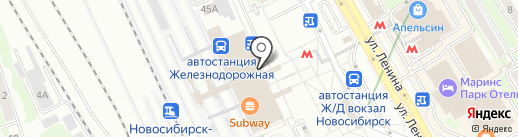 Subway на карте Новосибирска
