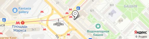 Мегафон ритейл на карте Новосибирска