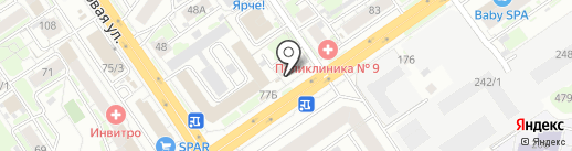 Арас на карте Новосибирска