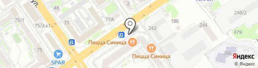 Капика на карте Новосибирска