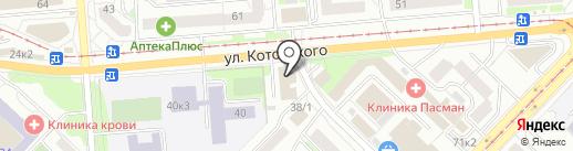 Цветочный магазин на карте Новосибирска