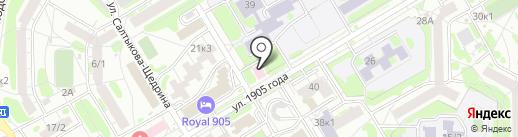 Дантист на карте Новосибирска