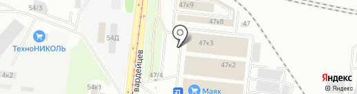 Камаз-Мастер на карте Новосибирска