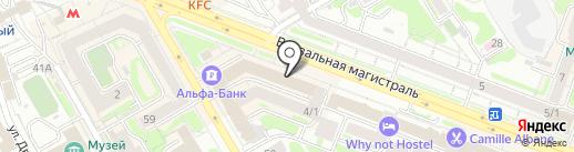 Ягуар на карте Новосибирска