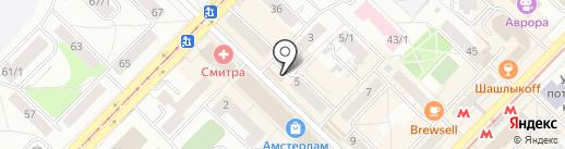 Киоск по продаже молочной продукции на карте Новосибирска