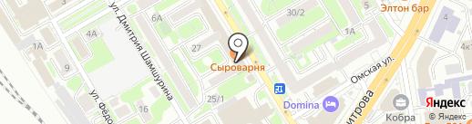Байбол на карте Новосибирска