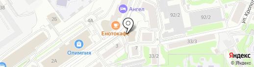 Мастер на карте Новосибирска