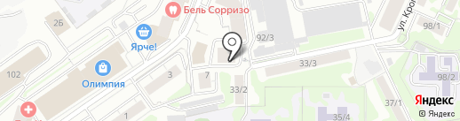 Наш клуб на карте Новосибирска