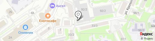 Мир Торговли на карте Новосибирска