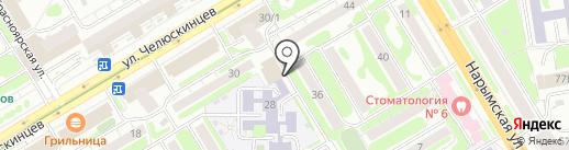 ИнАвто на карте Новосибирска