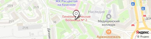 Киоск по продаже фруктов и овощей на карте Новосибирска