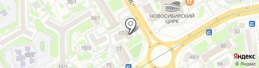 Аванта на карте Новосибирска