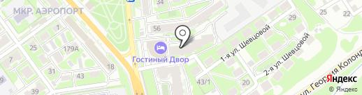 Монтажстрой на карте Новосибирска