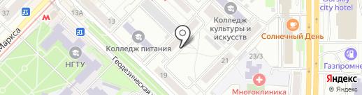 Азимут Роста на карте Новосибирска