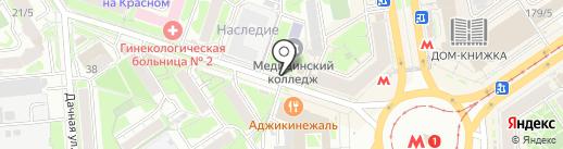 Золотой цыпленок на карте Новосибирска