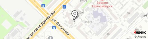 Бэтси на карте Новосибирска