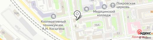 Медпроминвест на карте Новосибирска