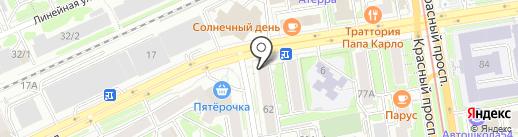 Прожарка на карте Новосибирска