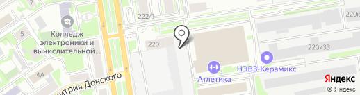 Фавор на карте Новосибирска