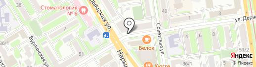 Студия наращивания ресниц на карте Новосибирска