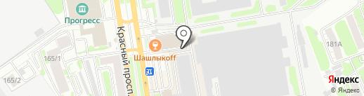 Геликон на карте Новосибирска