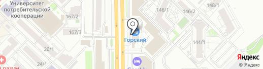 Автодром на карте Новосибирска